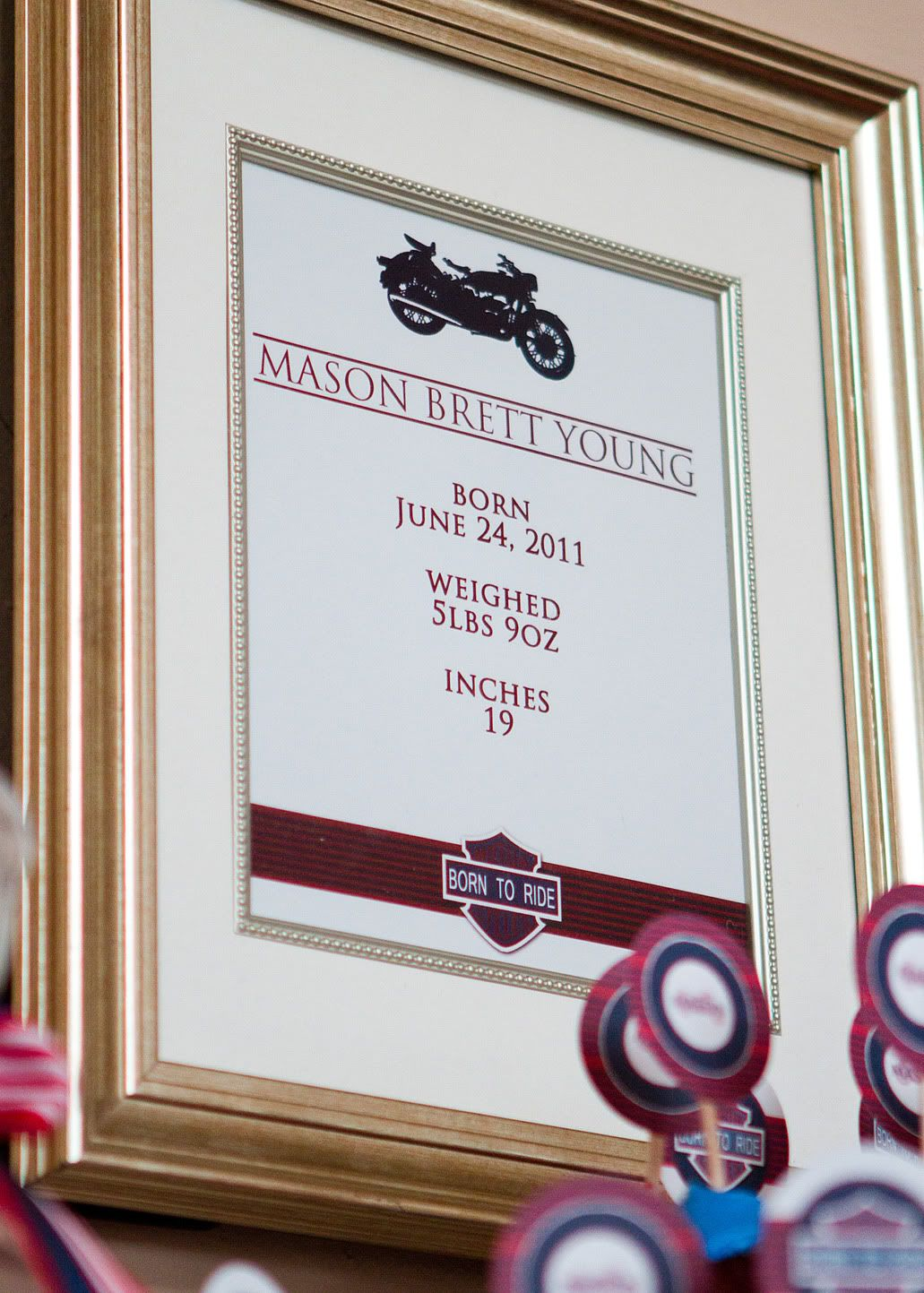 hopscotch Studios Designs: My sisters {Born to ride} Baby Shower