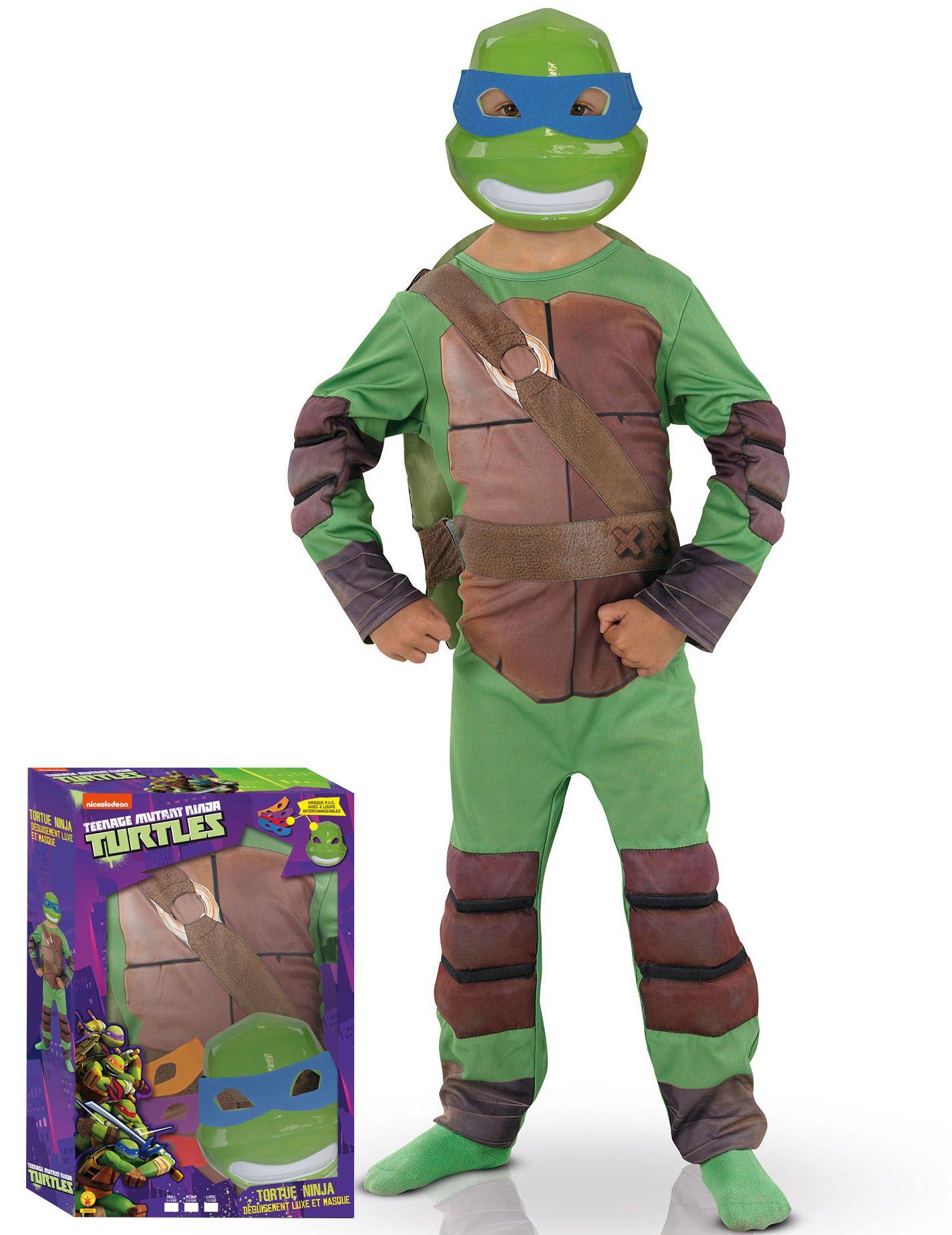 Costume deluxe tartarughe ninja bambino nel 2019 for Prezzo tartarughe