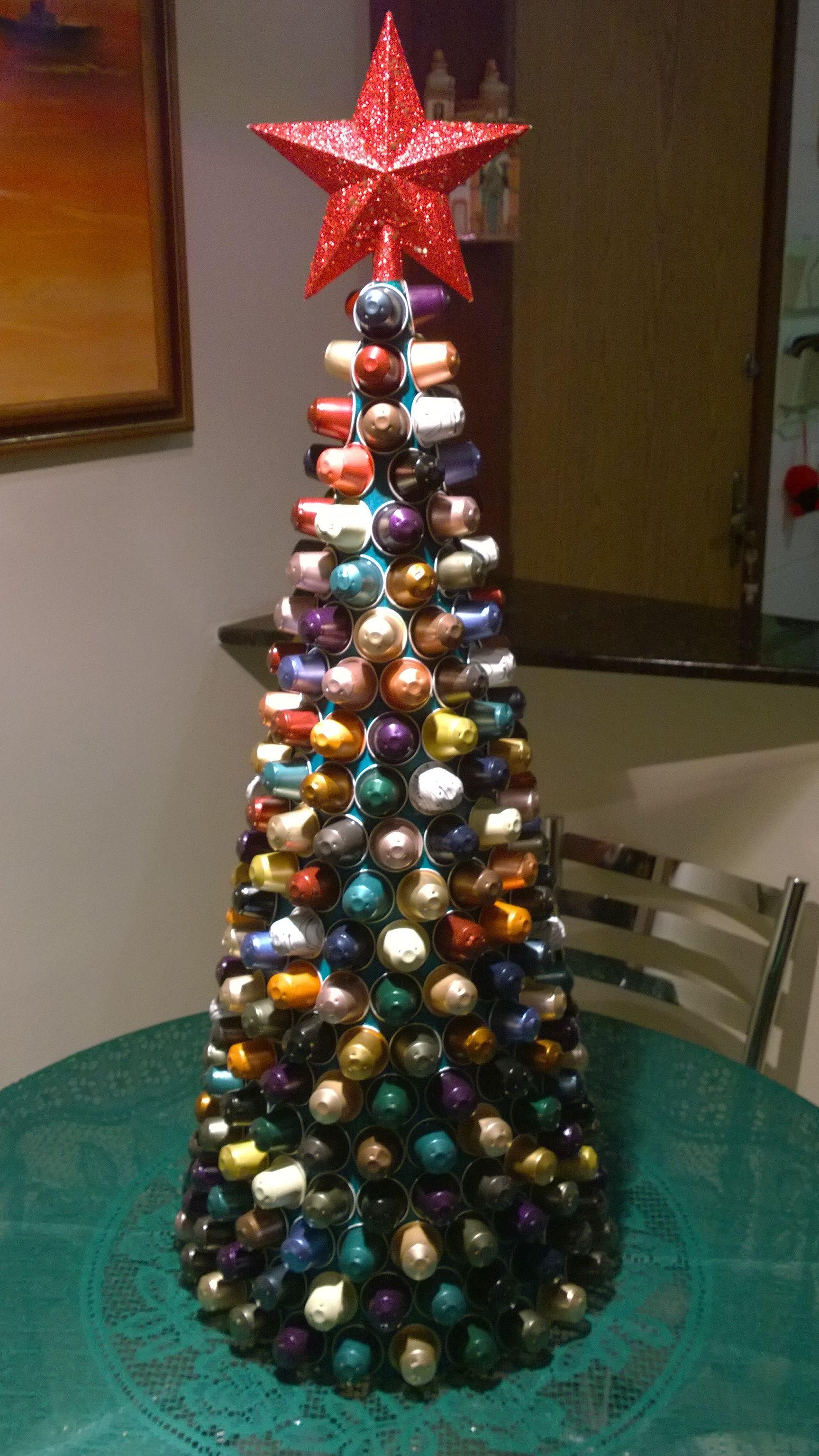 Arvore De Natal Feita Com Capsulas Nespresso Arvore De Natal
