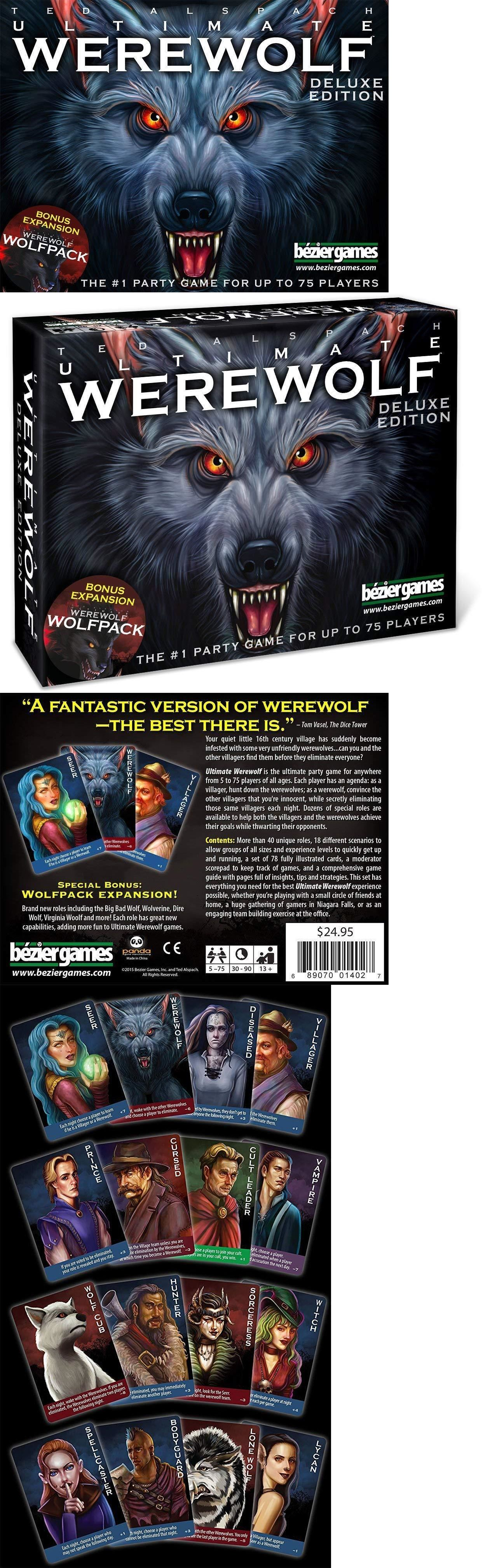 Card Games Contemporary 19082 Factory Sealed Bezier Games Ultimate Werewolf Deluxe Edition 75 Player Card Game Buy It Now O Player Card Card Games Werewolf