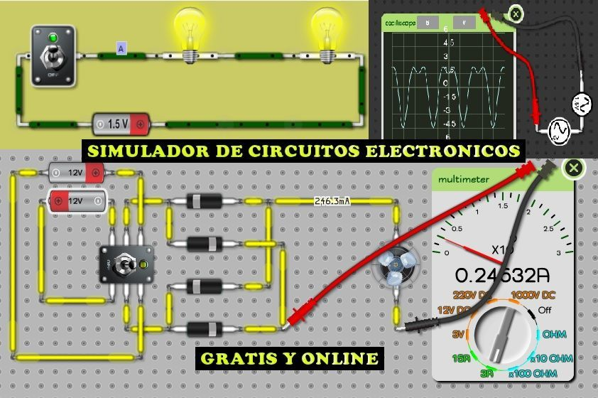 Entra Y Aprende Con Este Fantástico Simulador De Circuitos Electronicos El Mejor Simulador De Circuitos Electricos Circuito Electrónico Electrónica Circuitos