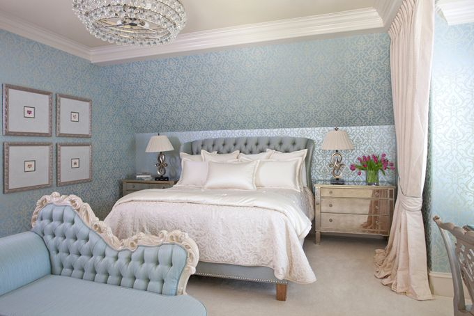 Jennifer Reynolds Interiors Blue Bedroom Decor Classic Bedroom