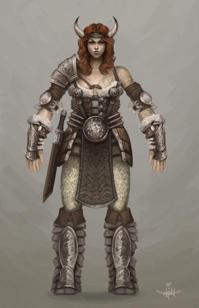 Viking women | Female viking Picture (2d, character ... Viking Woman Art