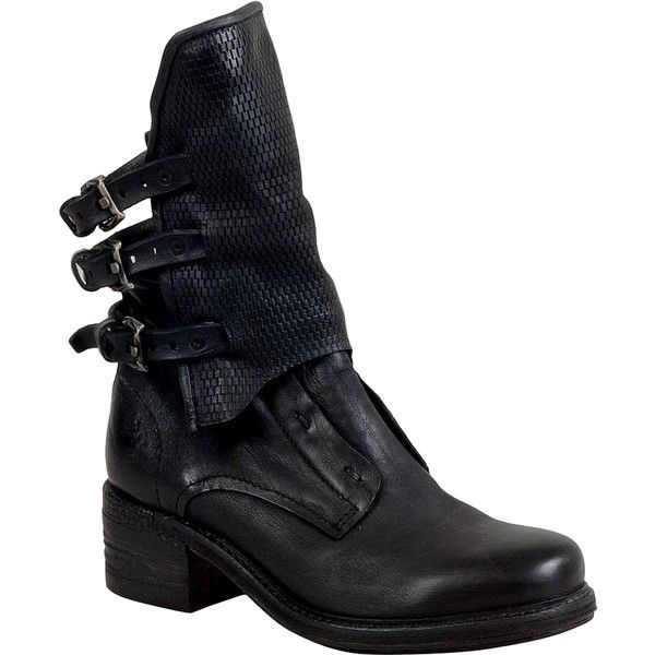 A.S.98 Napier Women's Motorcycle Boot F Boot ($400) ❤ liked on Polyvore featuring shoes, boots, ankle boots, black, black bootie boots, black leather boots, engineer boots and leather motorcycle boots