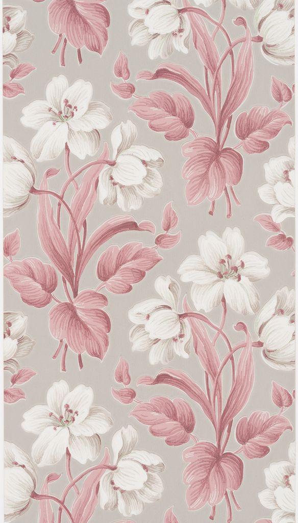 Vintage Cooper Hewitt Wallpaper Via Suzanne Lipschutz Floral Wallpaper Flower Phone Wallpaper Floral Prints Pattern