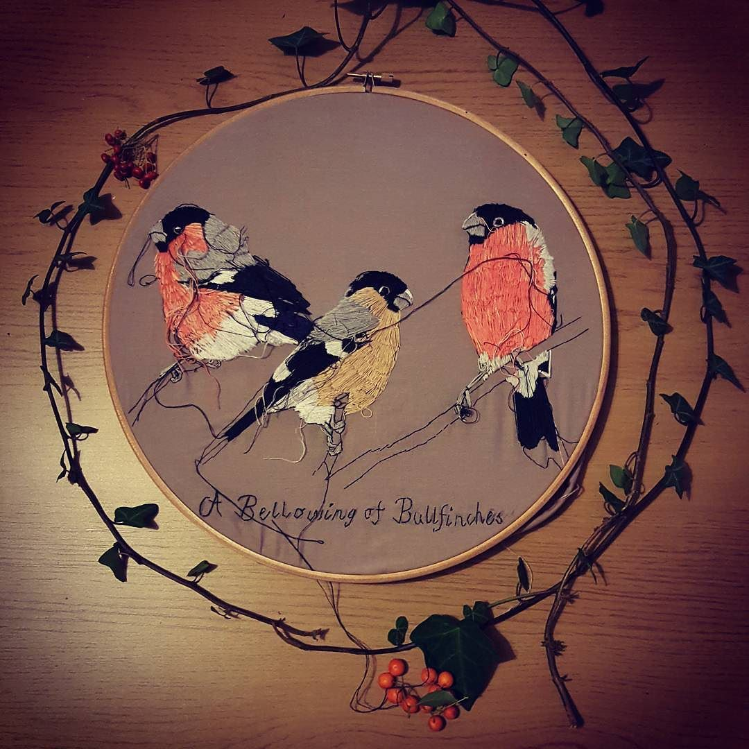 You will soon be able to buy original artworks from my etsy shop! Watch has this space! Working on photos for my new embroidery hoop collection! http://ift.tt/2fcrFO5 #bristolartist #textileartist #embroidery #embroideryhoops #bird #bullfinches #christmas #autumn #winter