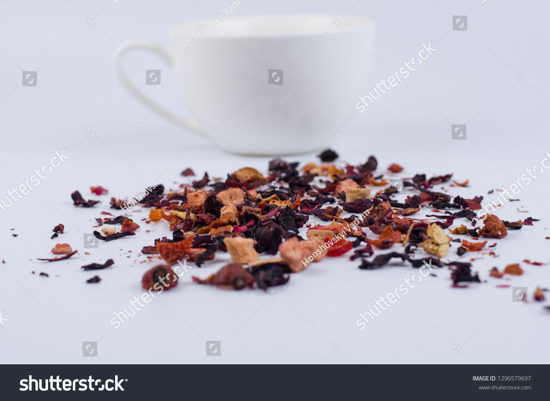 Tea Leaves Fruit Tea On A Light Background With A Cup Ad Paid Fruit Leaves Tea Tea Tea Leaves Fruit Tea Tea