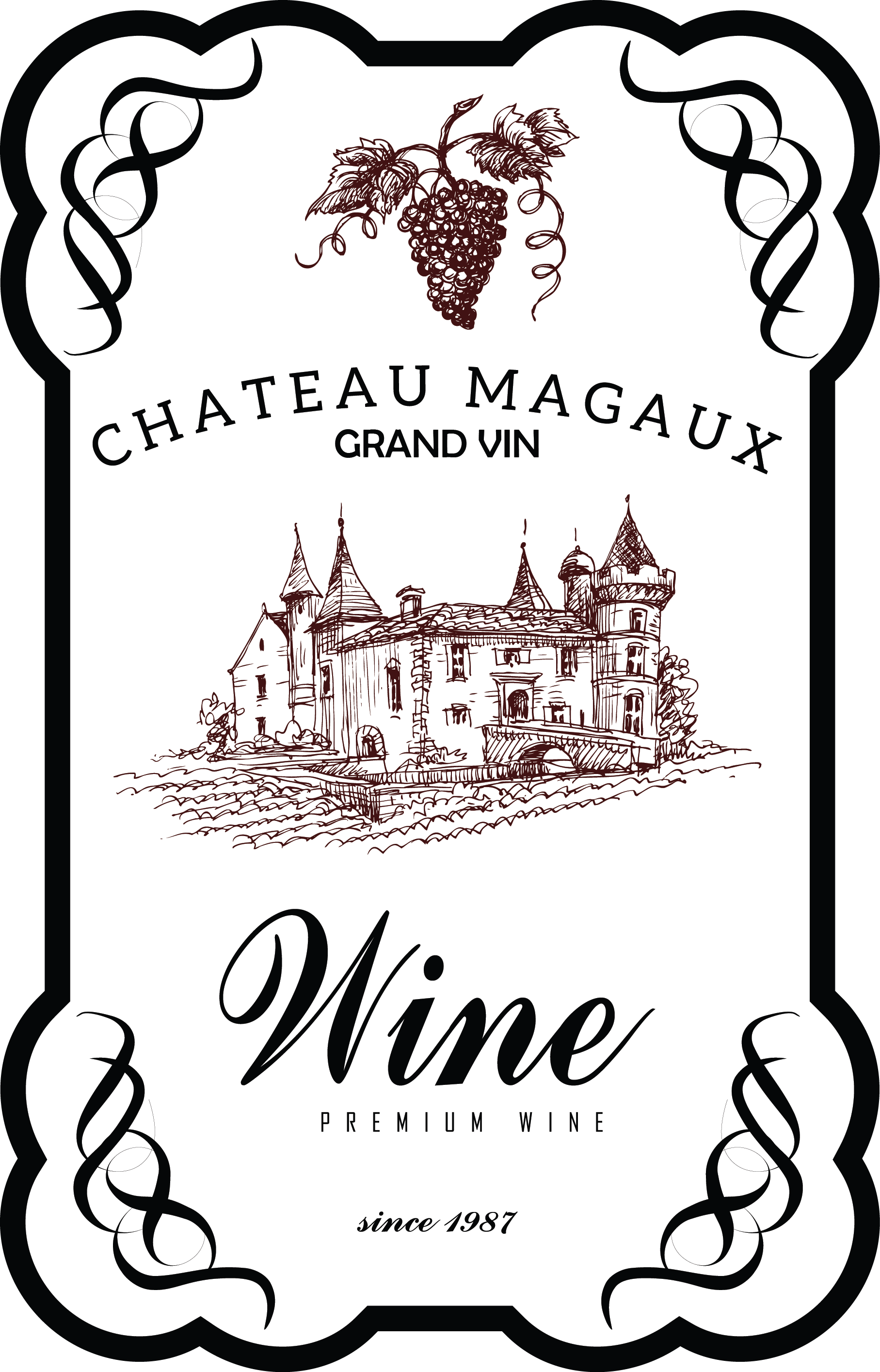 Pin By Angela Flores On Wine Wine Label Template Vintage Wine Label Vintage Wine Bottle Labels