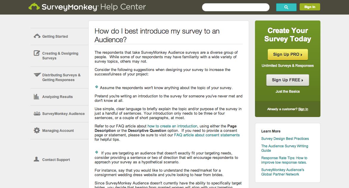 Survey Monkey Help Center How Do I Best Introduce A Survey To My