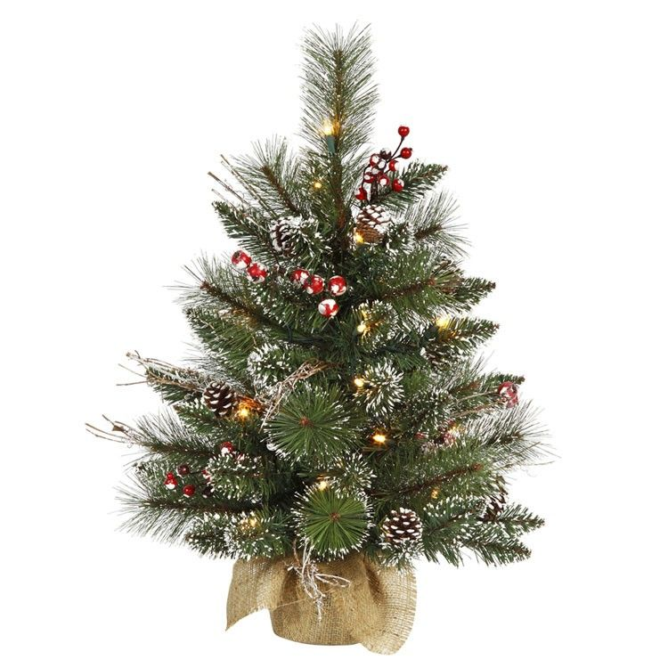 Ordinary Mini Tree With Lights Part - 8: 24 Inch Snow Tip Pine/Berry Tabletop Artificial Christmas Tree With Clear Mini  Lights | Baby Trees | Pinterest