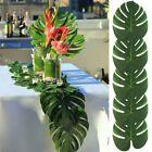 12X Green Jungle Artificial Tropical Palm Leaves Hawaiian Luau Party Table Decor   eBay