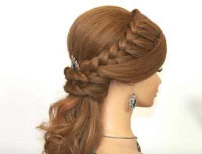 Peinados Para 15 Anos Recogidos Con Trenza Peinados Elegantes Peinados Peinados Poco Cabello
