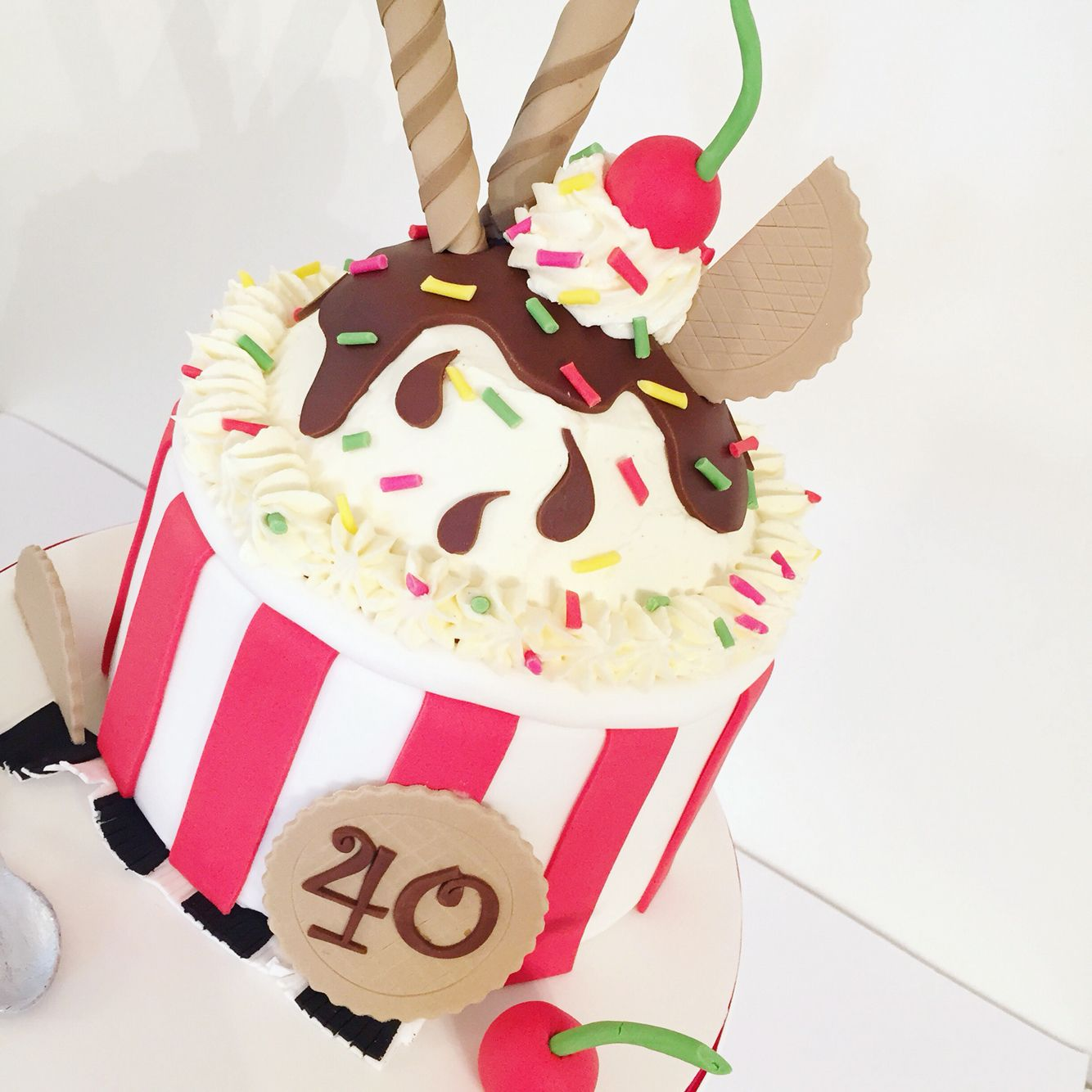 An icecream themed cake for matts 40th www