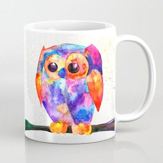 Howlet Mug Art Tea Mug Art Print Art Gift Coffee Mug
