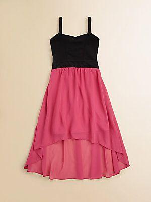 Sally Miller Girl's Colorblocked Hi-Lo Dress #sallymiller