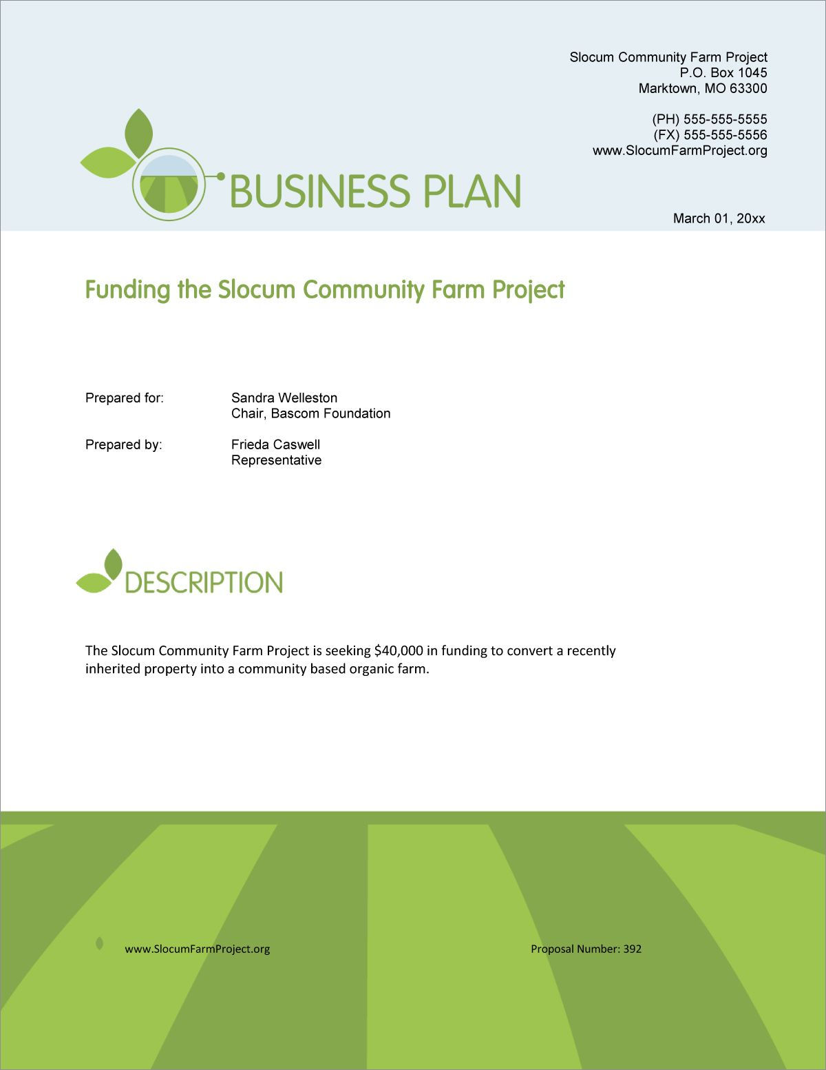 Agricultural Grant Funding Sample Proposal in 2020