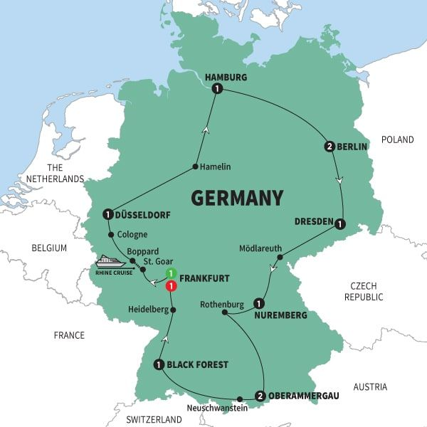 Oberammergau Germany Map.Map Of Best Of Germany With Oberammergau Best Of Germany With