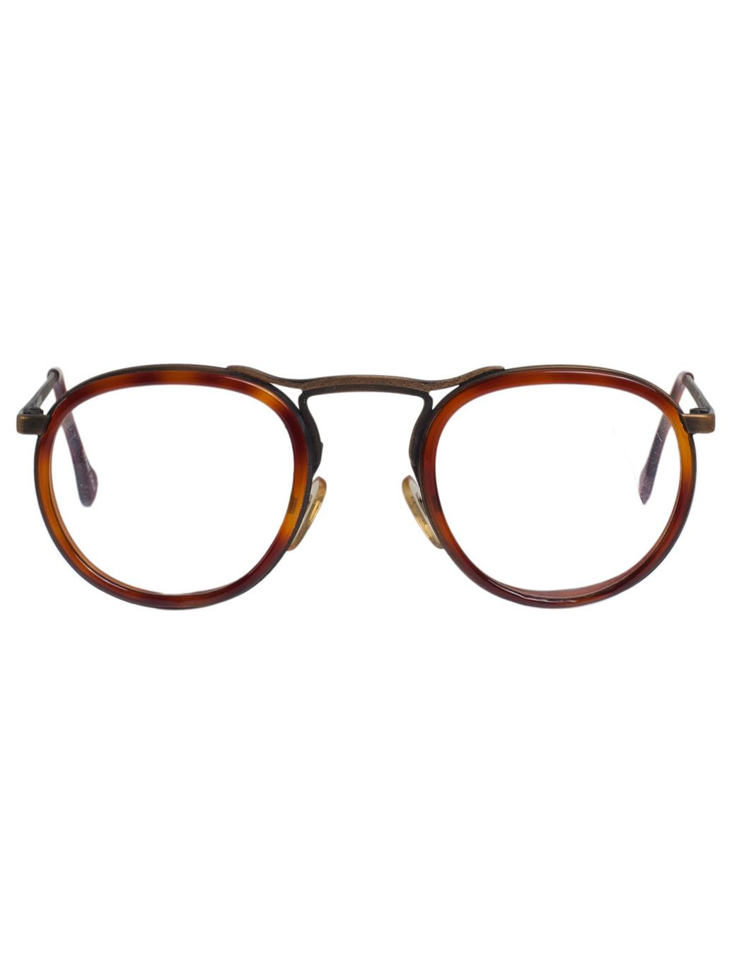 362d0e2cecd1c Vintage Le Club Optique Tortoise Shell Metal Eyeglasses Glasses Frames