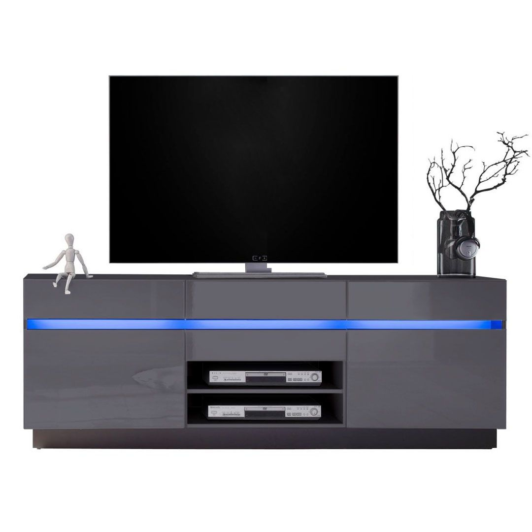 Tv Boards Mit Optionaler Led Beleuchtung Und Verschieden  # Vladon Meuble Tv