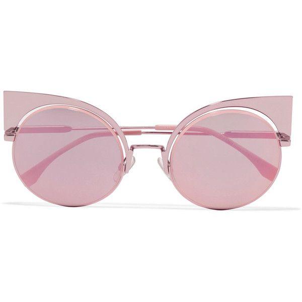 Große Cateye-Sonnenbrille Pastellrosa 1XFMix7
