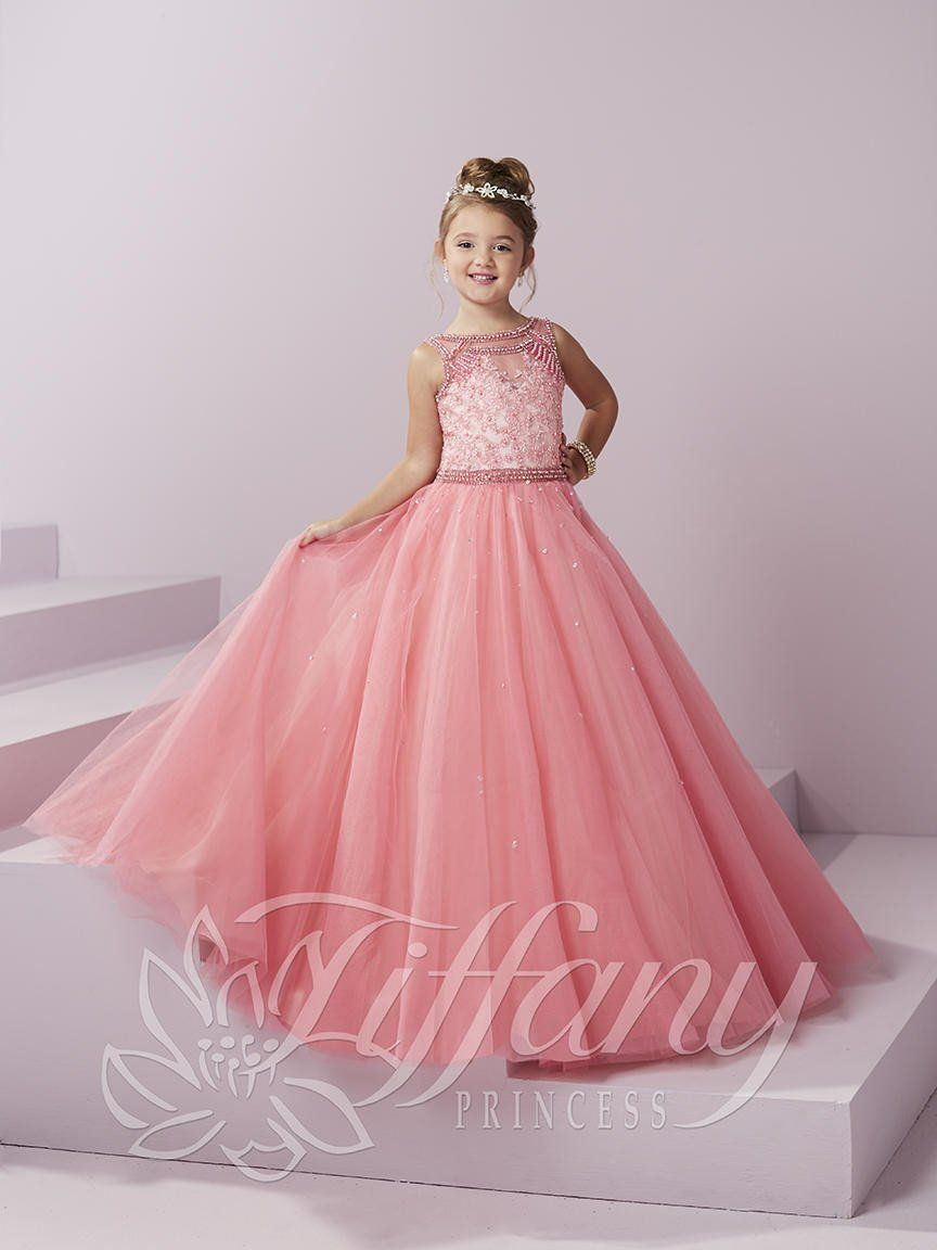 Tiffany Princess 13486 Party Pink Pearl Beaded Little Girl Pageant ...