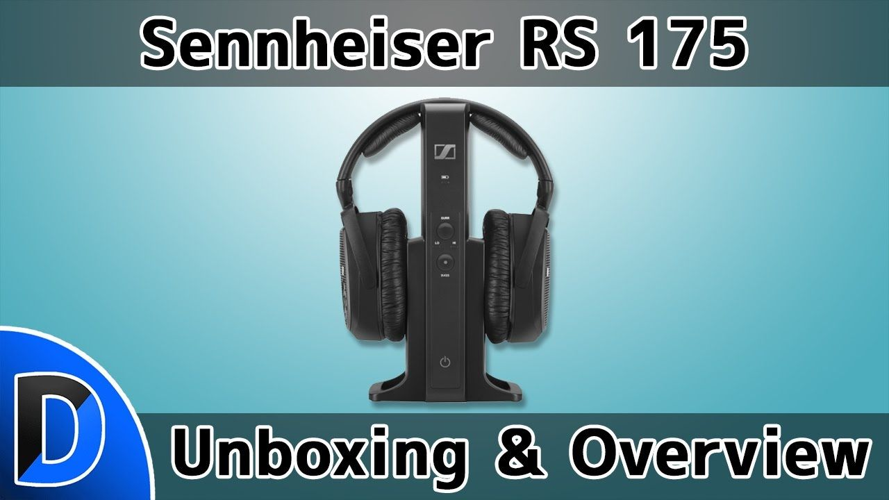 b7a1df30066 Sennheiser RS 175 RF Wireless Headphone System Unboxing and Overview ...