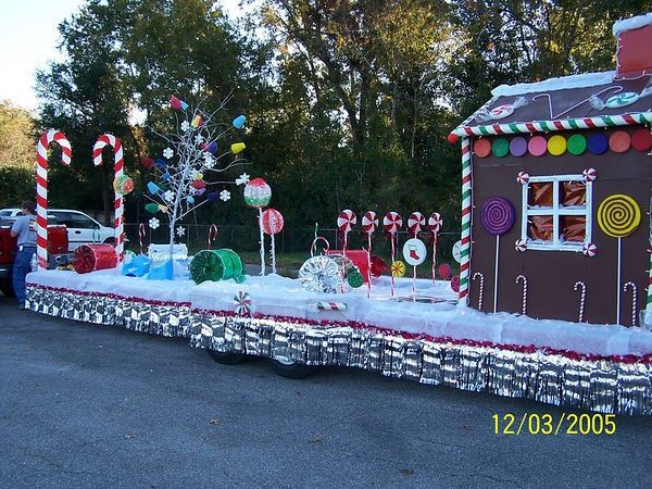 candyland christmas float parade floats