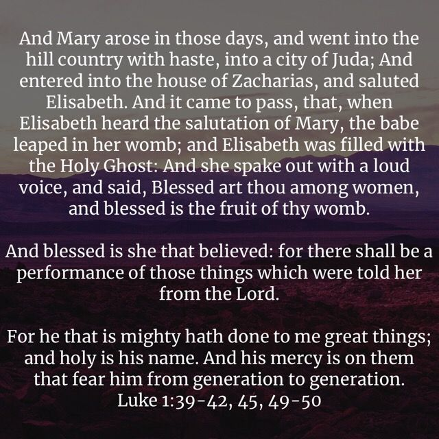 Blessed Art Thou Among Women Blessed Is She That Believed For