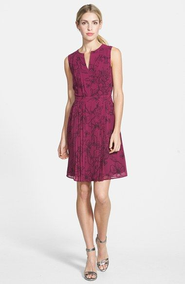 Sleevelss Pleat Dress With Images Fit Flare Dress