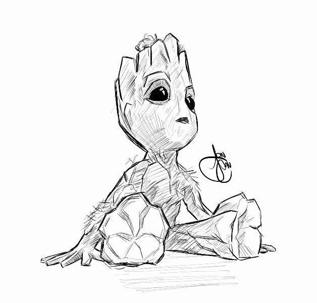 Baby Groot Coloring Page Fresh Baby Groot By Joncav182viantart On Deviantart Cricut In 2019 Baby Groot Drawing Cartoon Drawings Marvel Drawings