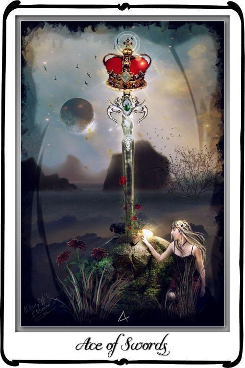 Tarot- Ace of Swords by azurylipfe on deviantART