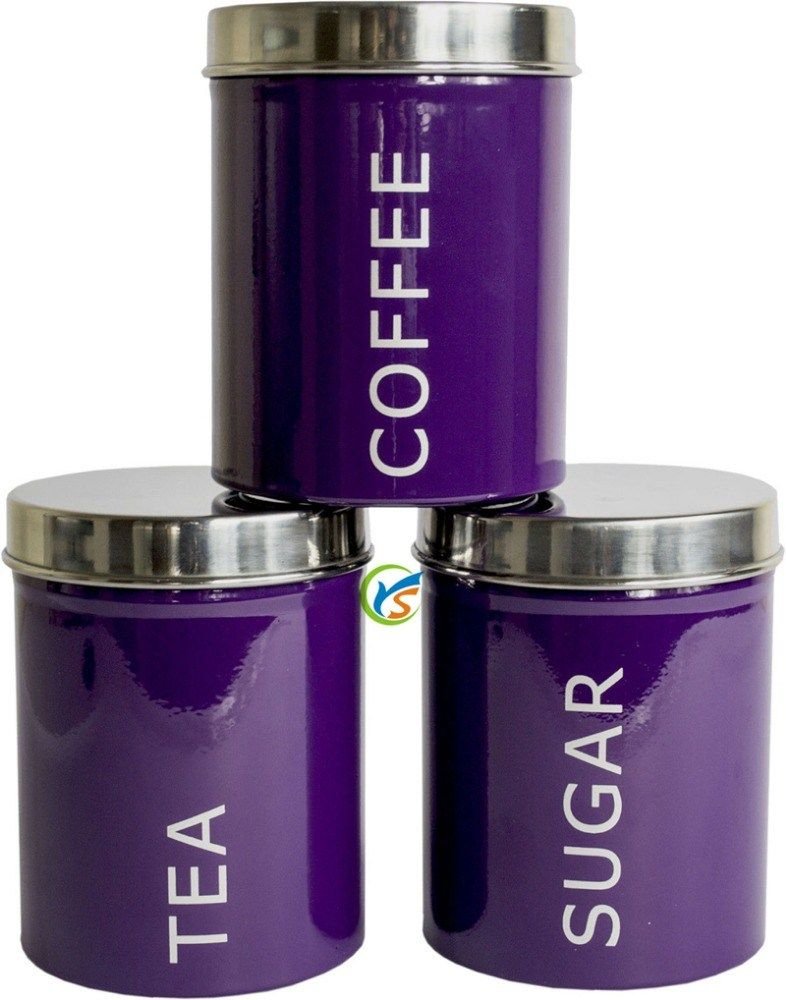 purple kitchen storage purple tea coffee sugar kitchen canisters set buy 1688