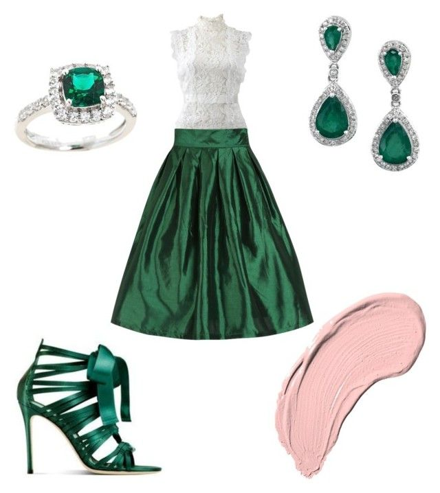 """Fancy"" by chynadoll125 ❤ liked on Polyvore featuring Oscar de la Renta and NYX"