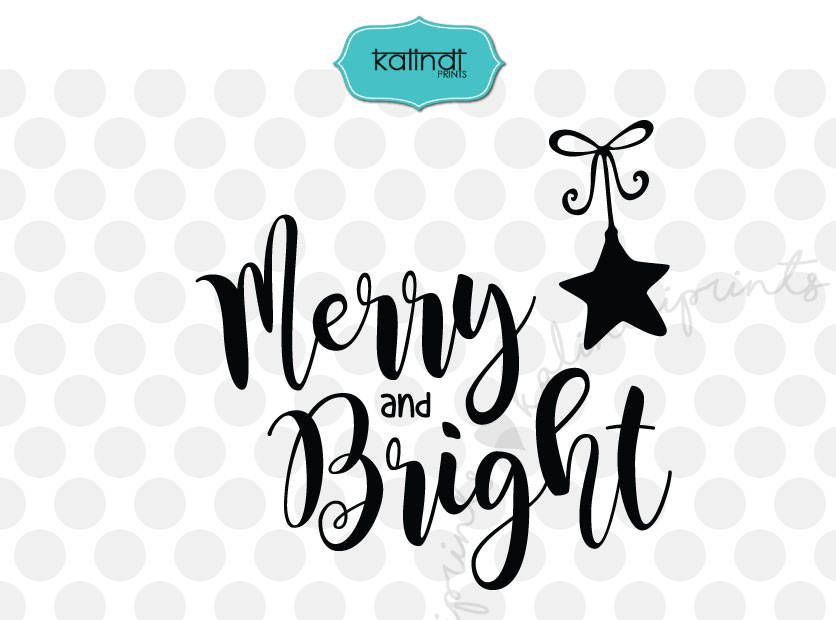 Christmas Quotes Svg.Merry And Bright Svg Christmas Tree Svg Christmas Svg