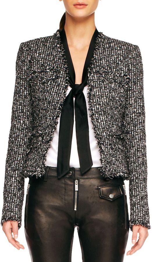 d61e1f02b16518 Balmain Fringe-Trim Tweed Jacket on shopstyle.com | FASHION ...