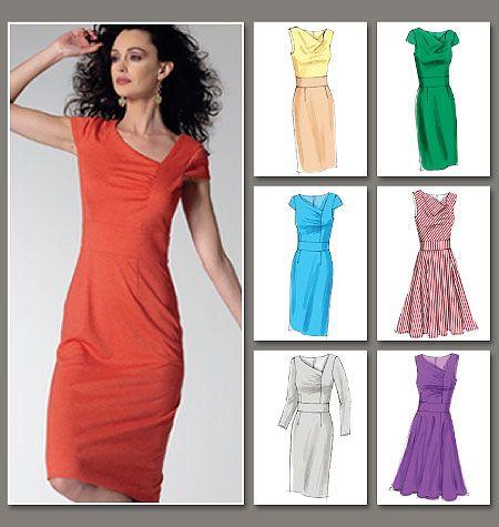Easy Vogue Sheath Dress V8787 | DIY | Pinterest | Kleider rock, Rock ...