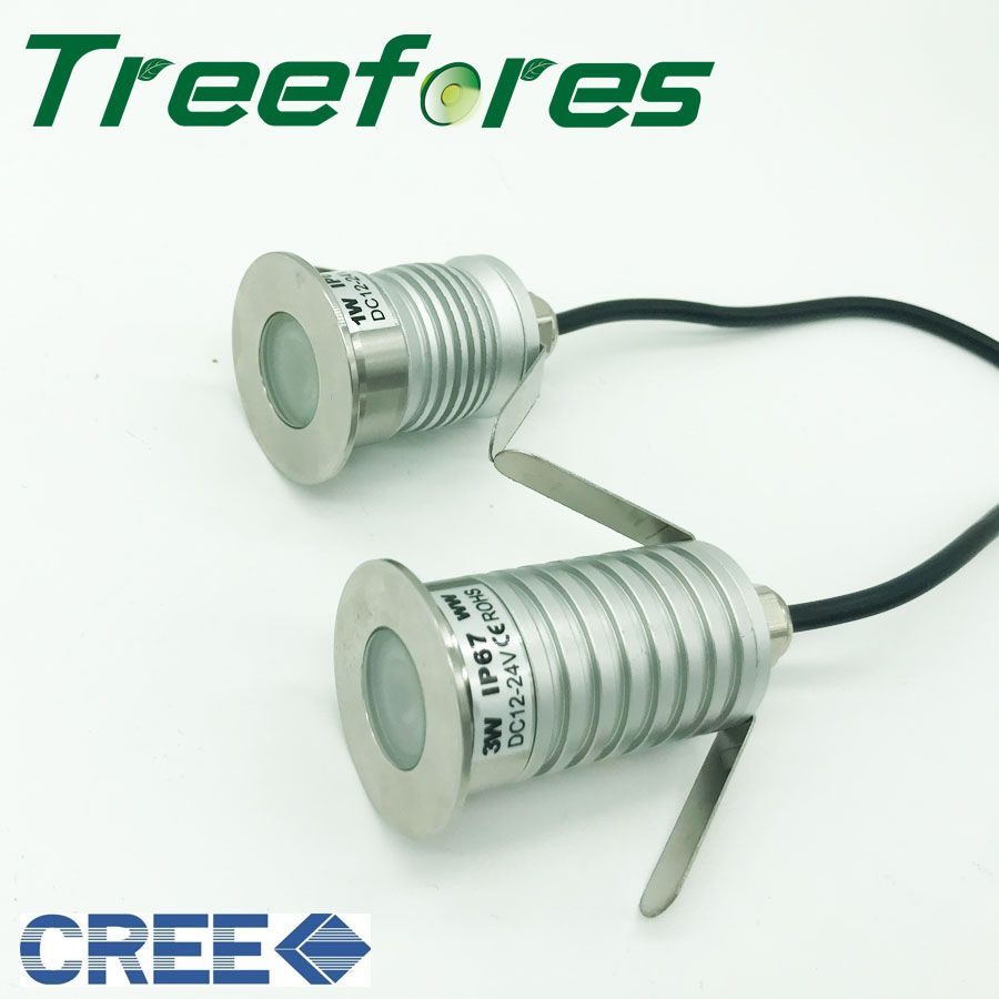 1w 3w Dc12v 24v Cree Xbd Ip67 Mini Led Downlight Lamp Outdoor Garden Deck Spot Pool Lighting Lampu