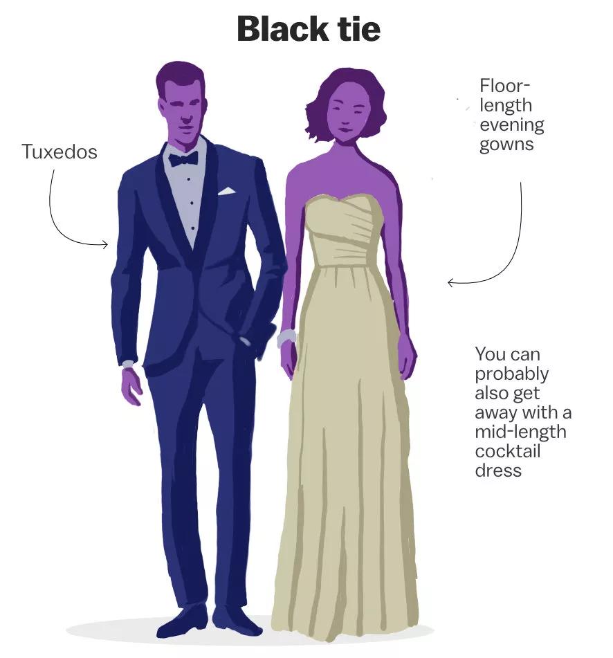 Decoding The Wedding Dress Code Vox Dress Code Wedding Dressy Casual Wedding Wedding Dress Outfit [ 951 x 886 Pixel ]