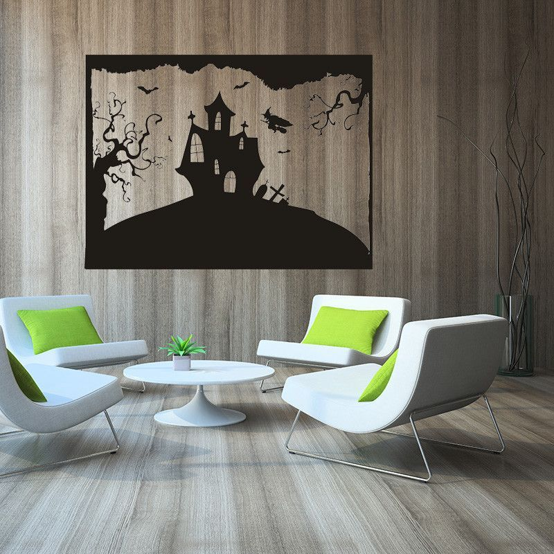 Hot Sell Big Size Black House DIY PVC Removable Wall Decal