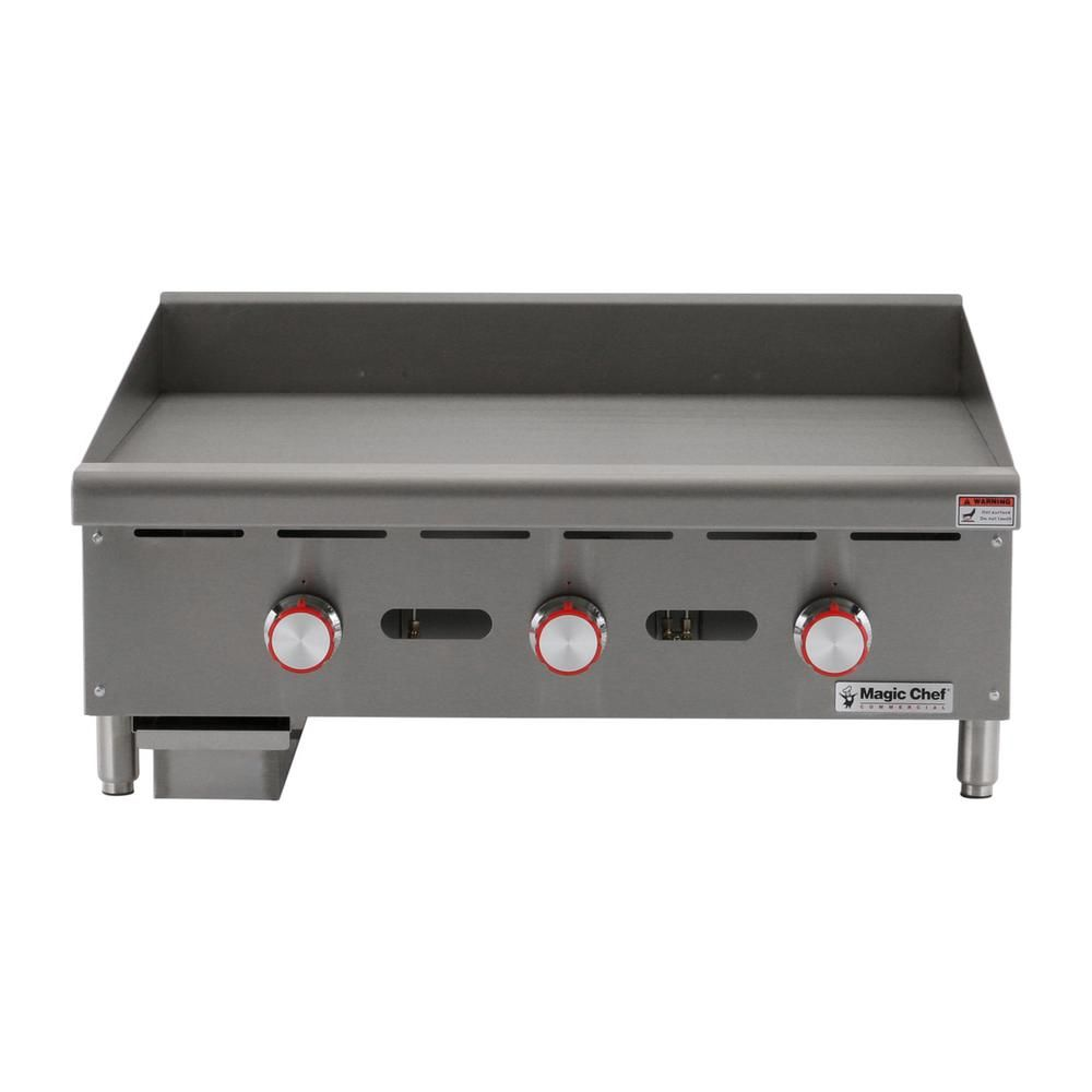 Magic Chef Commercial 36 In Thermostatic Countertop Griddle