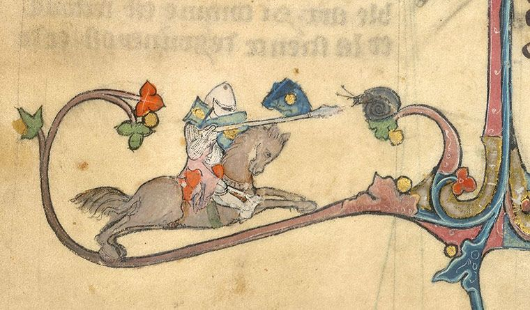 Knight v snail - in pictures