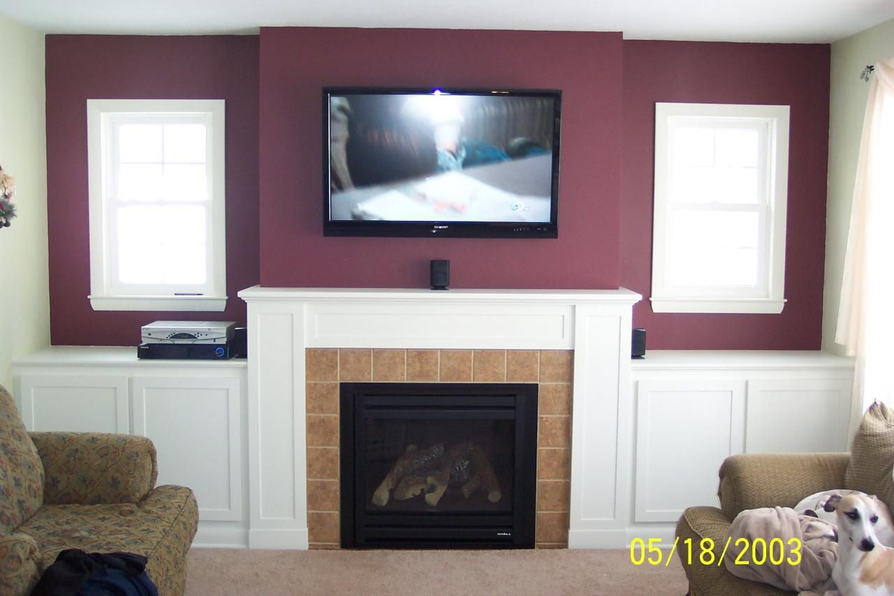 how should i run wiring for my above fireplace mounted tv home rh pinterest com installing wall mounted fireplace installing wall mounted fireplace