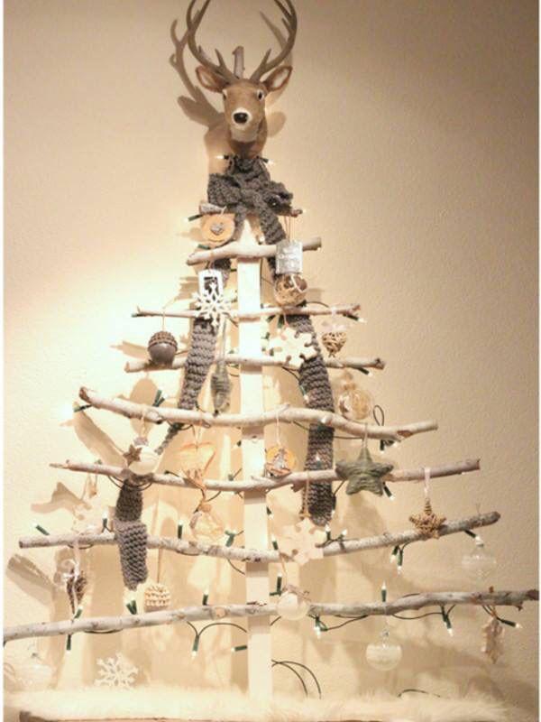 Diy Kerstboom Kerstboom Zelfgemaakte Kerstboom Kerst Thuis