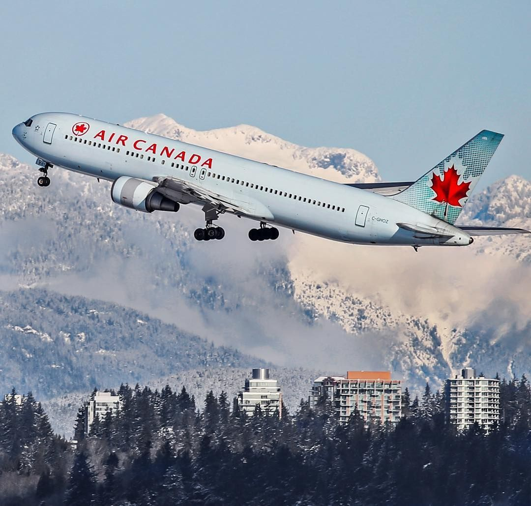 Air Canada 767 300 C Ghoz Airborne Out Of Vancouver For Toronto Last Winter Aircanada Boeing767 Cghoz Vancouver Toronto Yvr Yyz Air Vancouver Canada