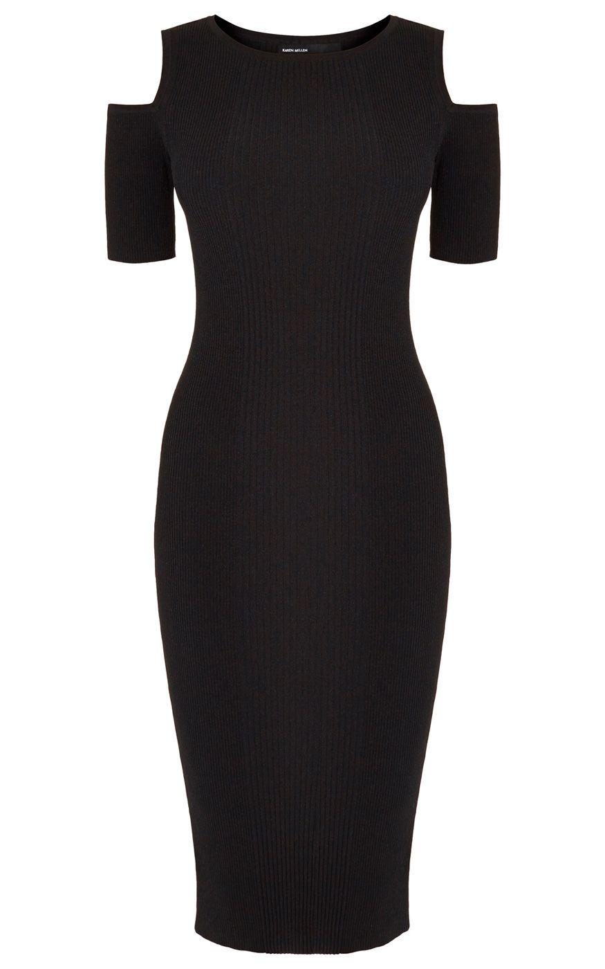 Black dress karen millen - Ribbed Knitted Dress Karen Millen Ky151