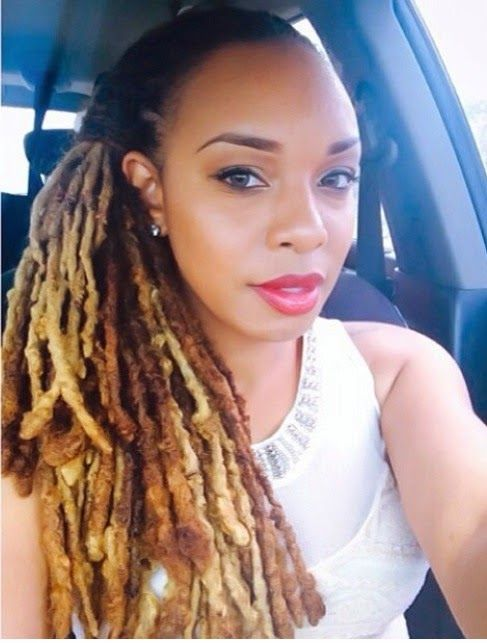 Blonde And Light Brown Dreads Natural Hair Styles
