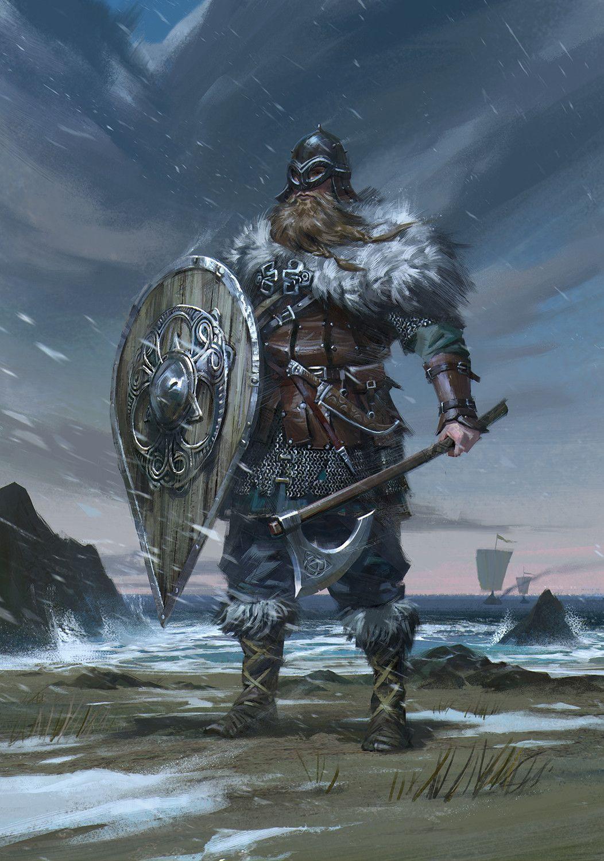Ретро девушки, картинки викинги фэнтези