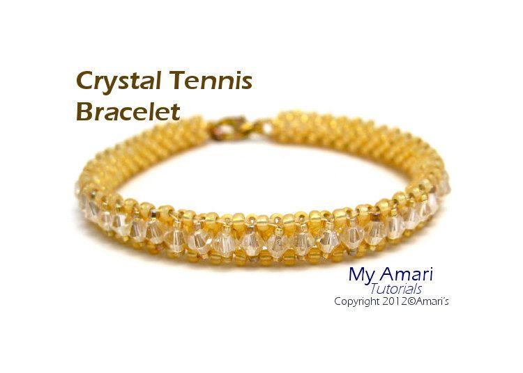 Crystal Tennis Bracelet- Bead Weaving Pattern PDF. $2.75, via Etsy.