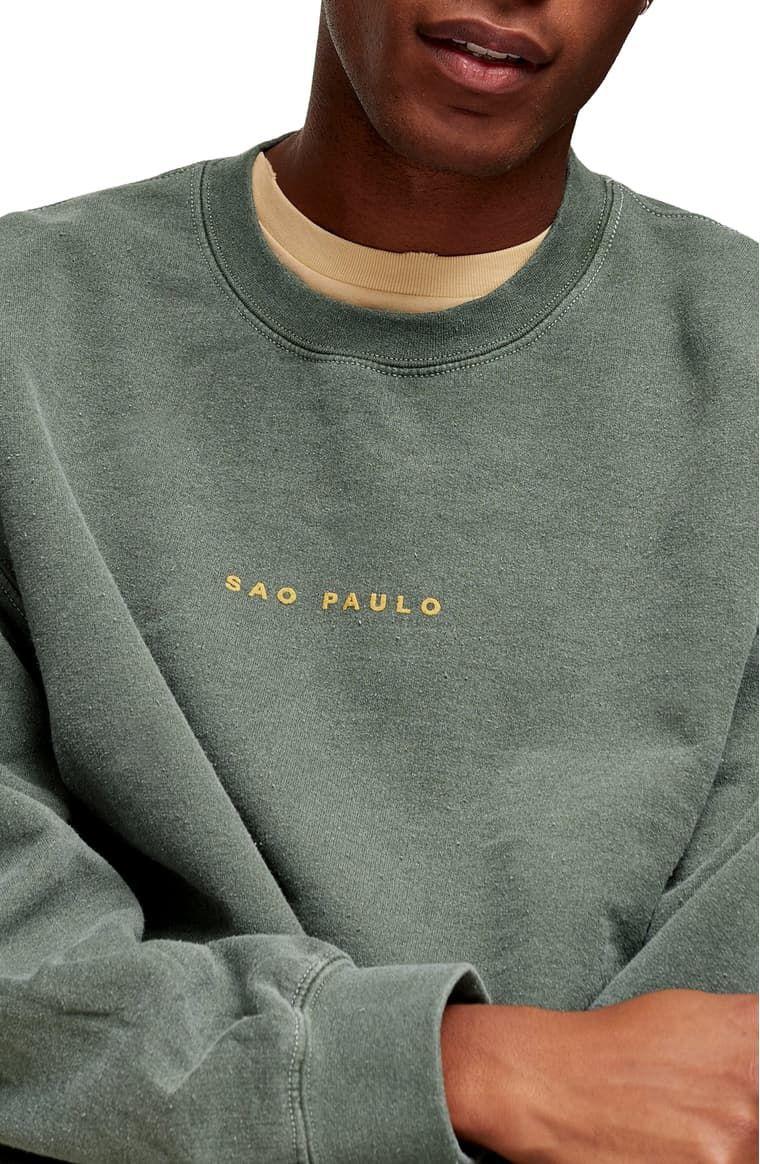Topman Sao Paulo Crewneck Sweatshirt Nordstrom Crew Neck Sweatshirt Sweatshirts Online Womens Clothing [ 1164 x 760 Pixel ]