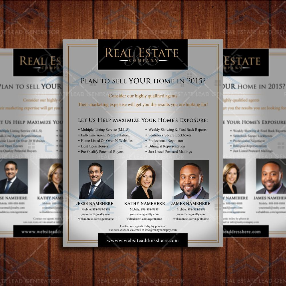 Custom Real Estate Branding Brochure, Realtor Branding Flyer ...